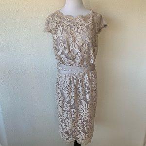 Tadashi Shoji Embellished Lace Sheath Dress